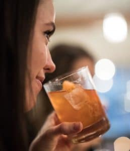 Old Fashioned Cocktail Woman